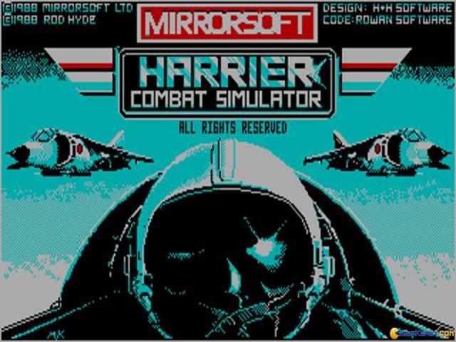 Harrier Combat Simulator - title cover