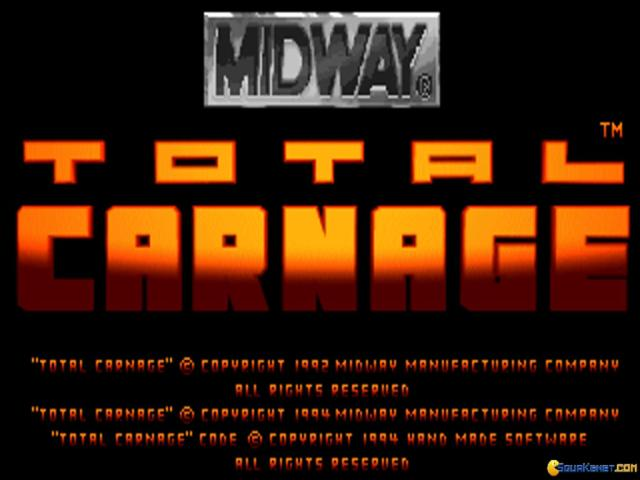 Total Carnage - title cover