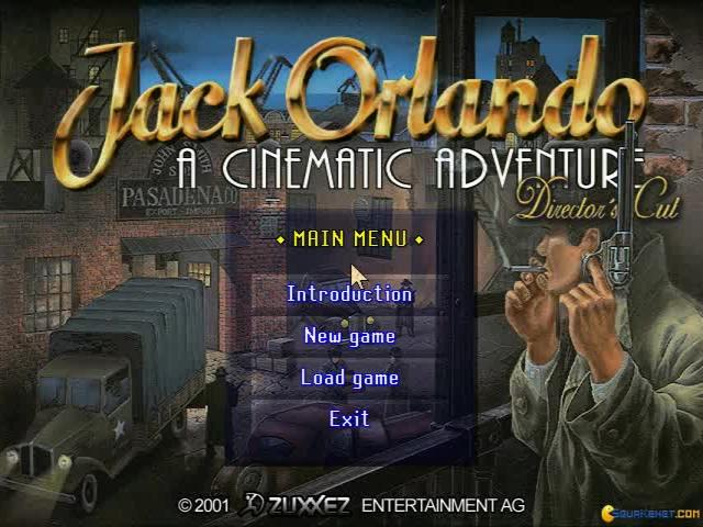 Jack Orlando: A Cinematic Adventure - title cover