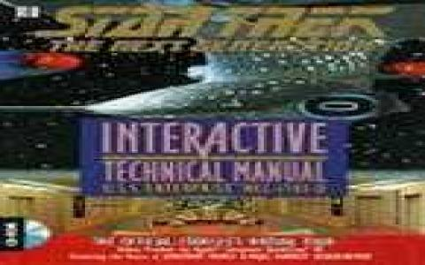 Star Trek TNG: Interactive Technical Manual - title cover