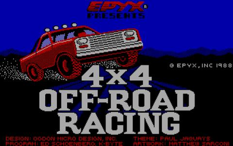 4x4 Offroad racing - game cover