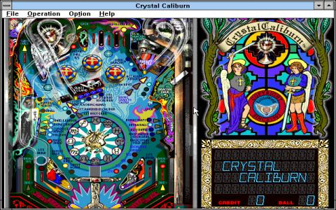 crystal caliburn pinball