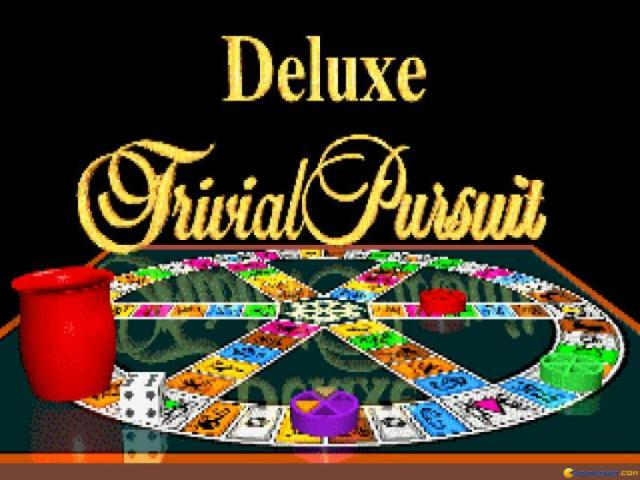 Deluxe Trivial Pursuit - title cover