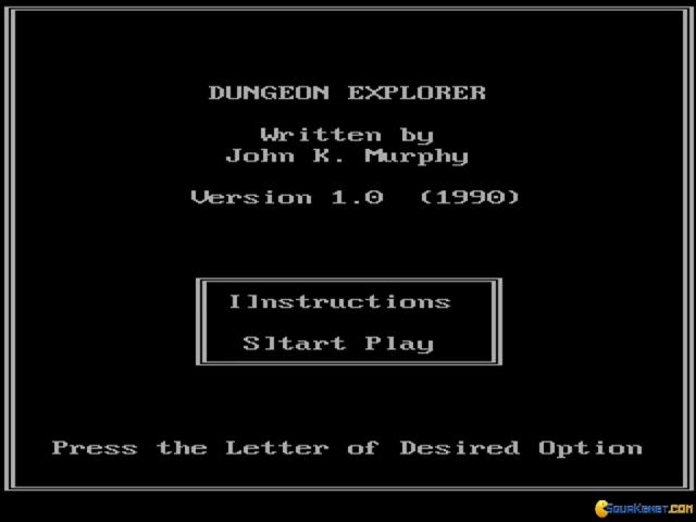 Dungeon Explorer - title cover