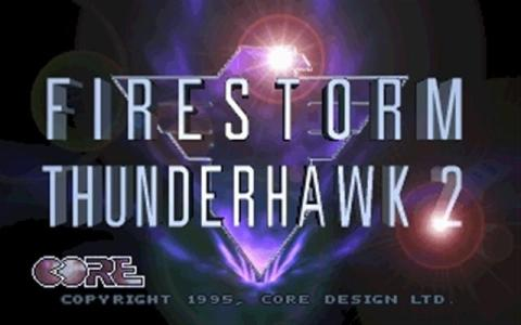 Firestorm: Thunderhawk 2 - title cover