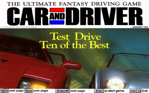 Car and Driver - title cover