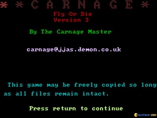 Carnage - title cover