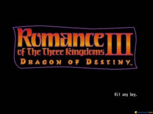 Romance of the three Kingdoms 3 - title cover