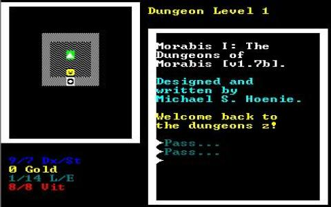 Dungeons of Morabis, The - title cover