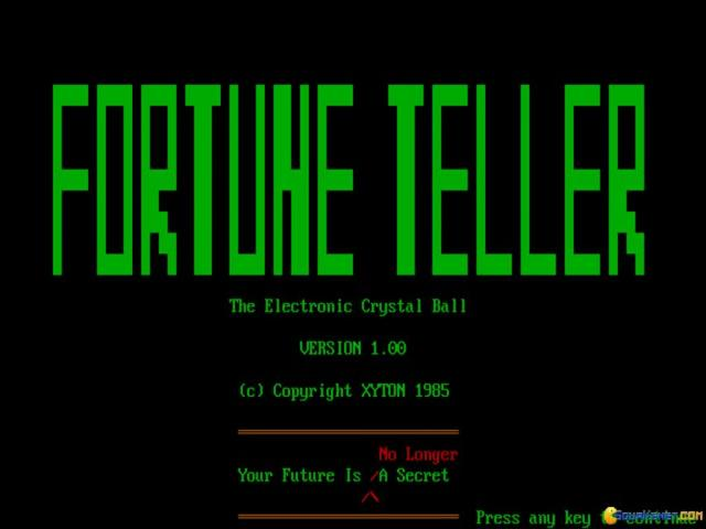 Fortune Teller - title cover