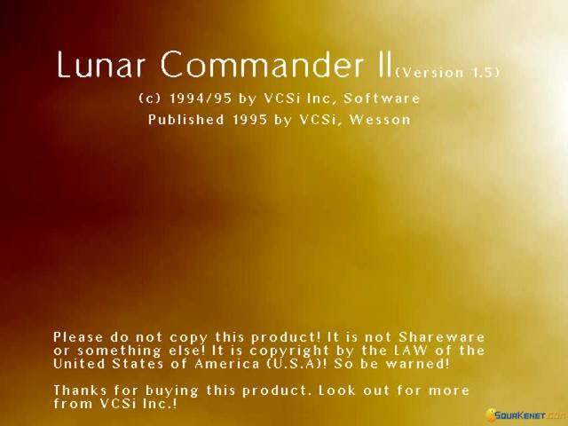Lunar Commander 2 - title cover