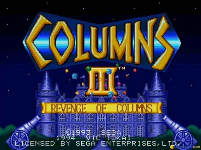 Columns III: Revenge of the Columns - game cover