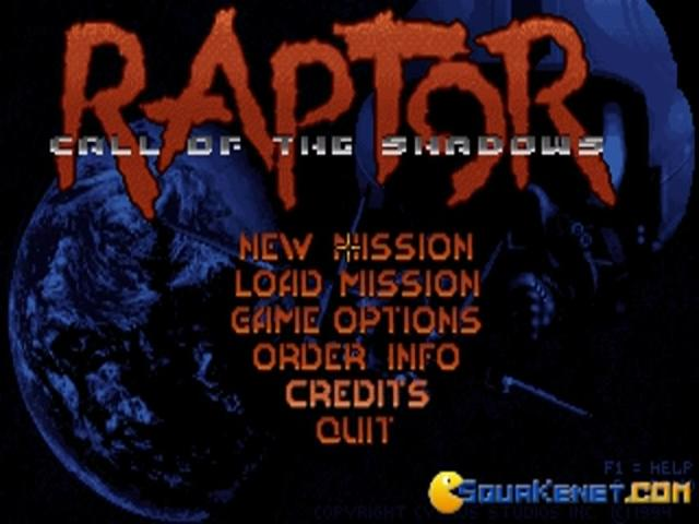 Raptor: Call of the Shadow - title cover