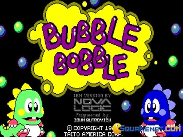 Bubble Bobble - title cover
