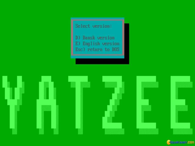 Yatzee - title cover