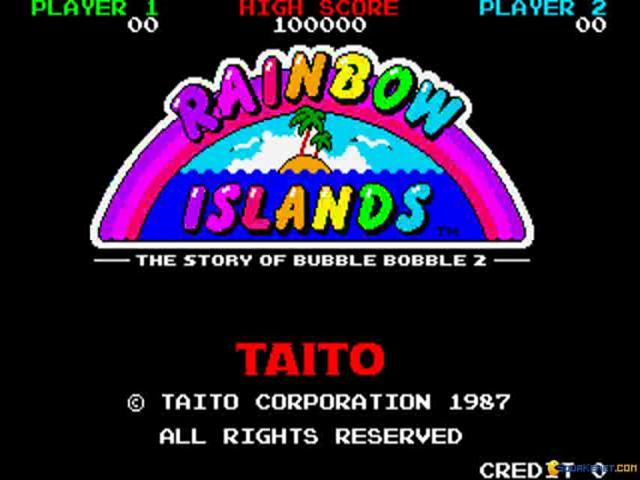 Bubble Bobble featuring Rainbow Islands - title cover
