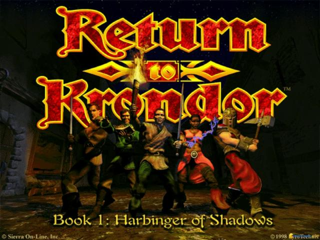 Return to Krondor - title cover