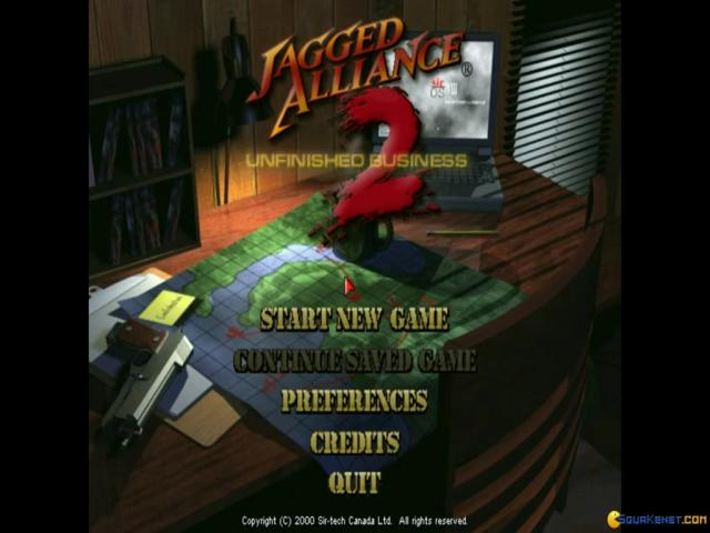 Jagged Alliance 2: Unfinished Business - title cover