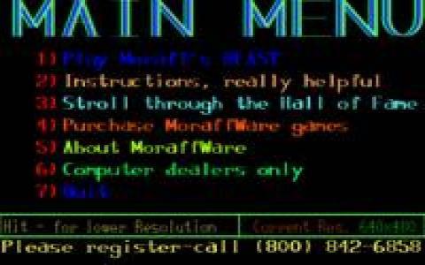 Moraff's Blast I - game cover