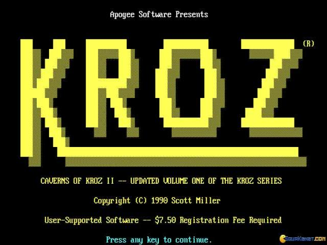 Caverns of Kroz II - title cover