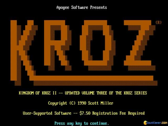 Kingdom of Kroz II - title cover