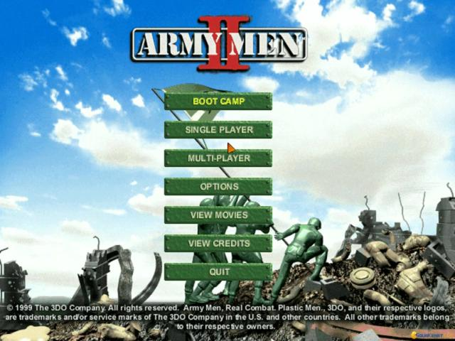 Army Men 2 - title cover