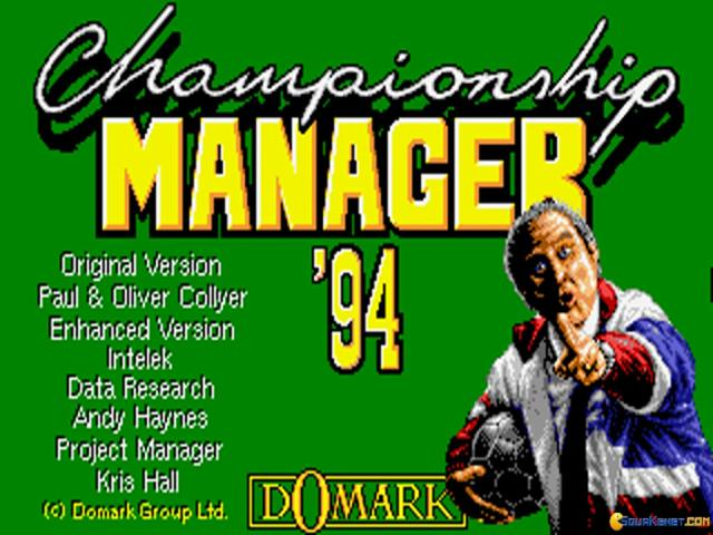 Championship Manager 1994 - title cover