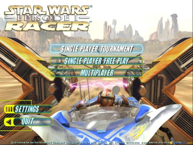 Star Wars: Episode I - Racer - game cover