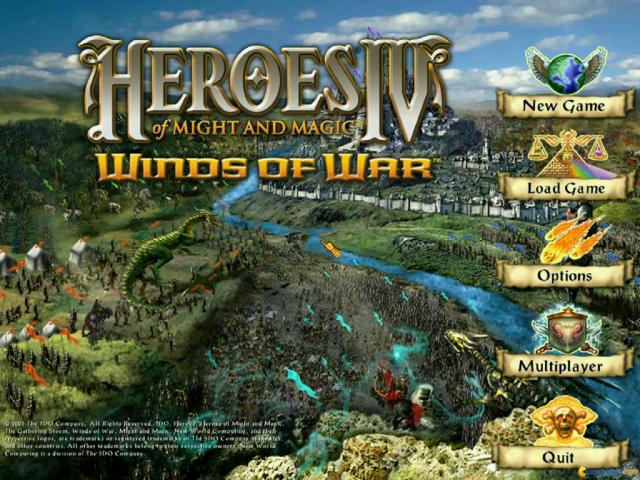 Heroes of Might and Magic 4 - title cover