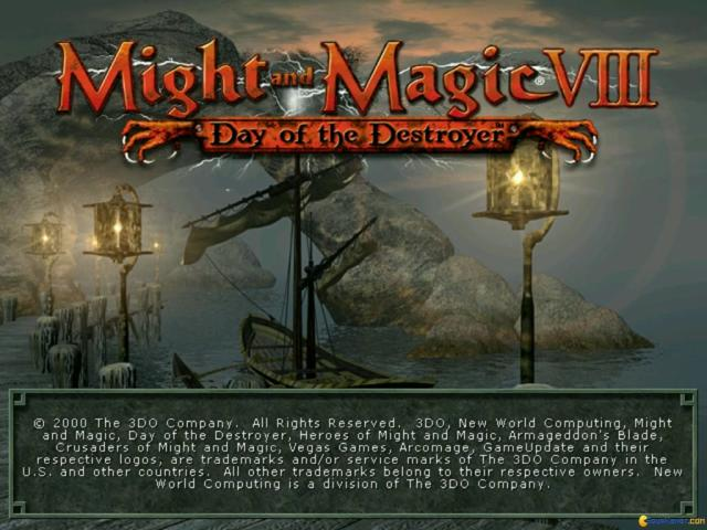 Might and Magic 8: Day of the Destroyer - title cover