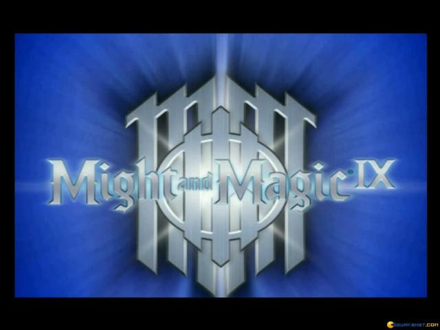 Might and Magic 9 - title cover