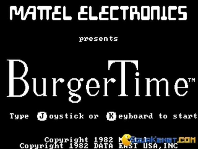 Burger Time - title cover