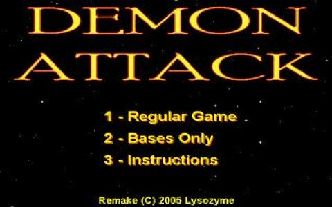 Demon Attack - title cover