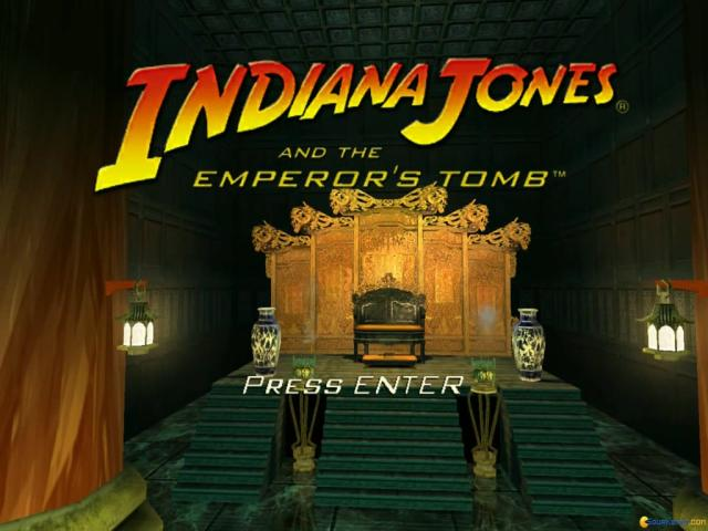Indiana Jones and the Emperor's Tomb - title cover