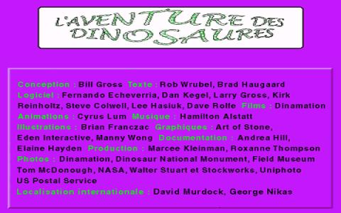 Du Big Bang aux dinosaures - game cover