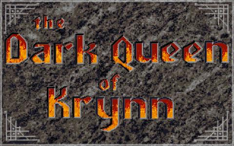 Dragonlance 3: Dark Queen of Krynn - title cover