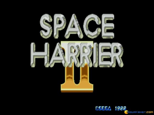 Space Harrier II - title cover