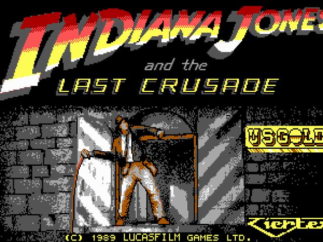 Indiana Jones and the Last Crusade - title cover