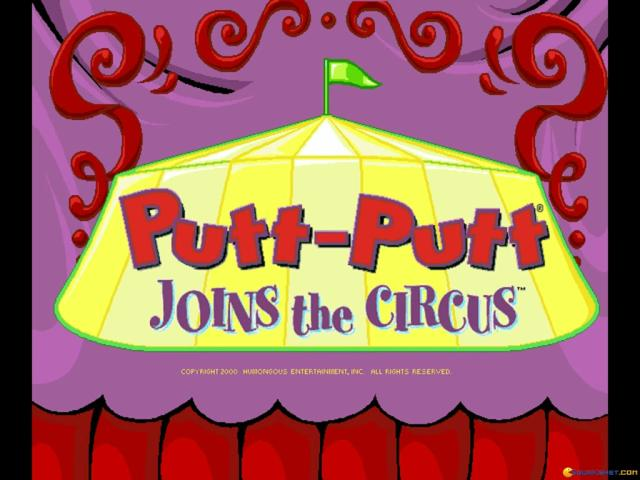 Putt-Putt Joins the Circus - title cover