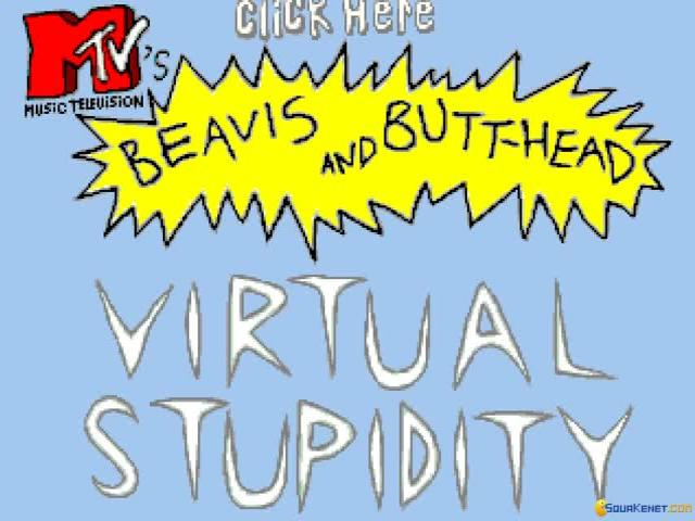 Beavis and Butthead in Virtual Stupidity - title cover