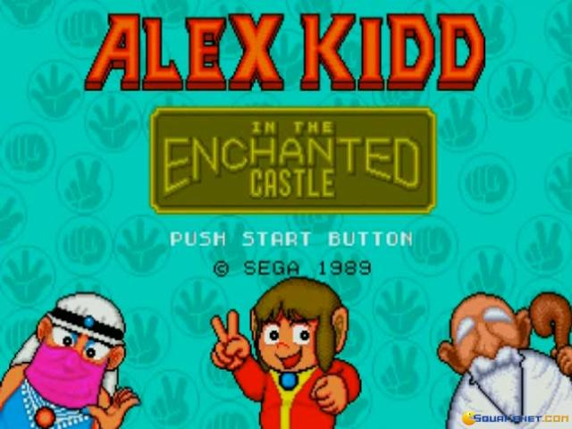 Alex Kidd in the Enchanted Castle - title cover