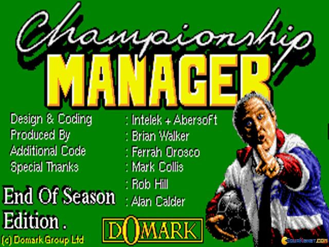 Championship Manager: End of Season Edition - title cover