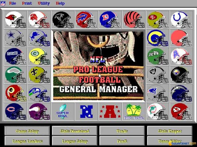 NFL Pro League Football 1995 - title cover