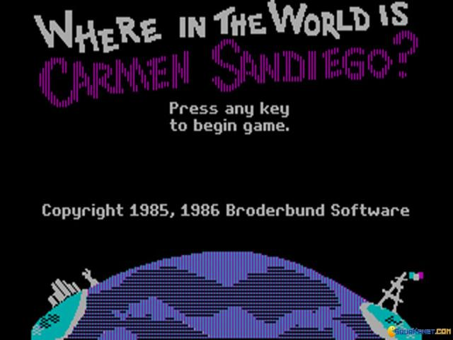 Where in the World is Carmen Sandiego? - title cover