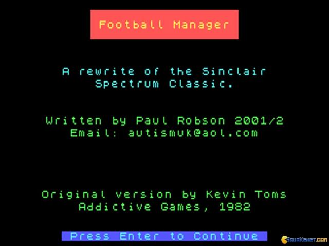 Football Manager - game cover