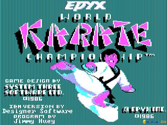 World Karate Championship - game cover