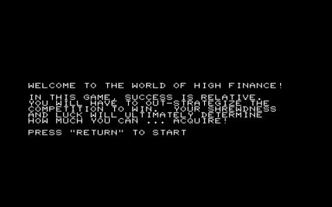 Computer Acquire: High Adventure in the World of High Finance - title cover