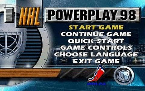 NHL Powerplay 98 - title cover