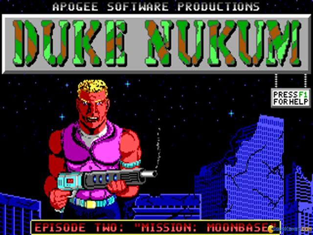Duke Nukem: Episode 2 - Mission: Moonbase - title cover