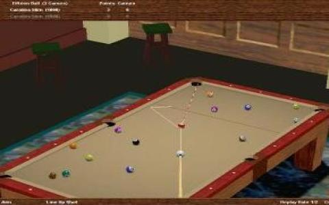 Virtual Pool Hall - title cover